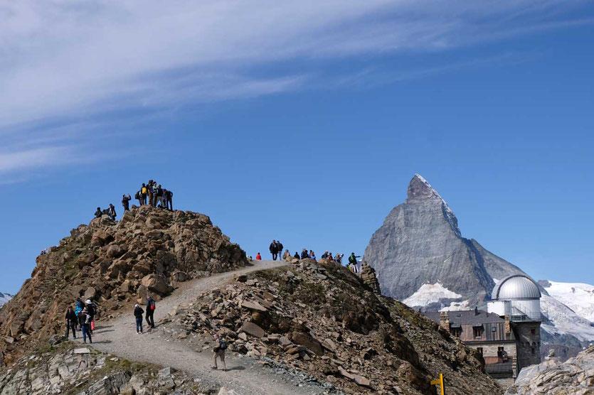 Zermatt Gornergrat – Blick auf Kulmhotel und Matterhorn