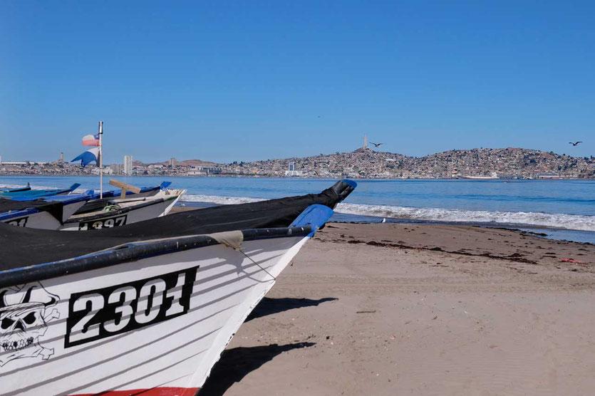 Blick auf die Hafenstadt Coquimbo