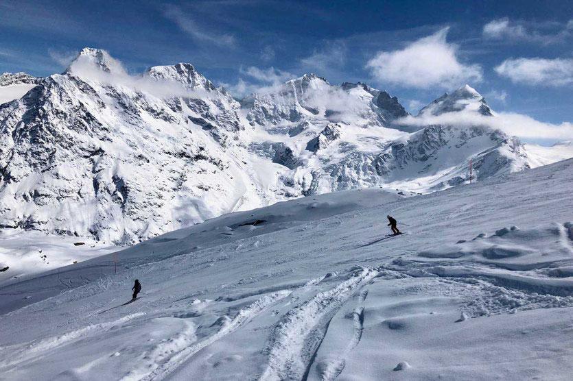 Skiabfahrt Corvatsch St. Moritz, Engadin