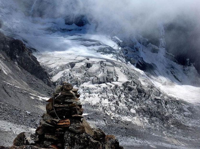 Bionnassay Gletscher Wanderung Refuge de Tête Rousse, Chamonix Mont Blanc