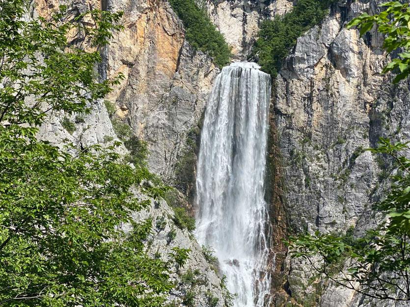 Großer Boka Wasserfall Soca-Tal Bovec