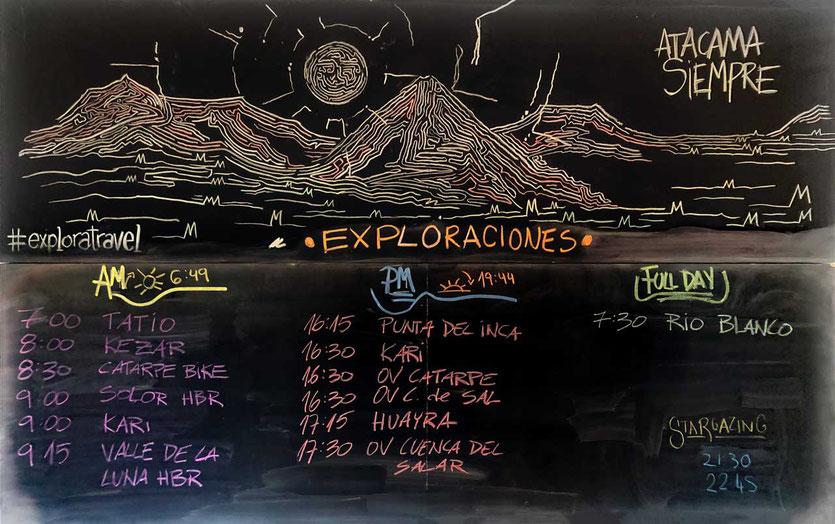 explora Tagesprogramm Atacama