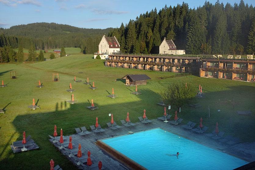 Kranzbach modernes Wellnesshotel bei Schloss Elmau Bayern