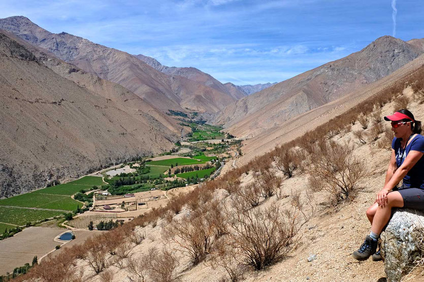 Valle del Elqui Blick vom Mirador Pisco Elqui