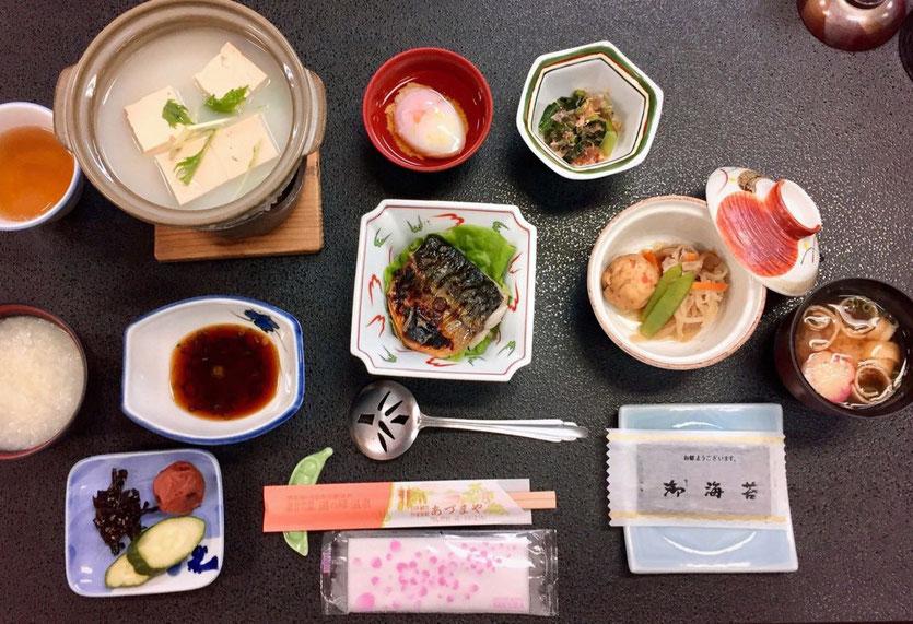 best food Ryokan Adumaya in Yunomine Onsen Kumano Kodo beste Küche