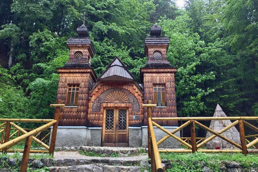 Russische Kapelle Vršič Passstraße Triglav