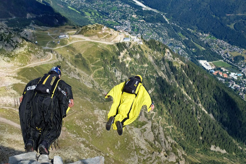 Base-Jumps Mont Blanc Wingsuits jum Chamonix