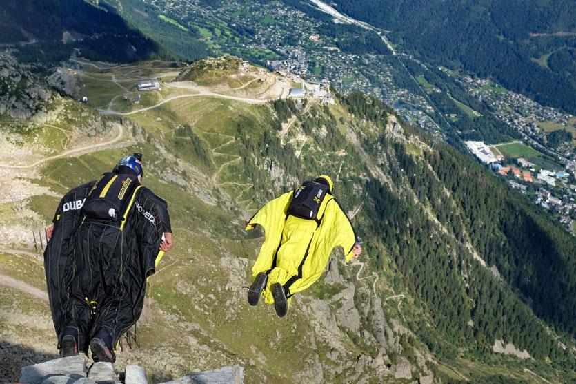 Base-Jumps Mont Blanc Wingsuits jum Chamonix