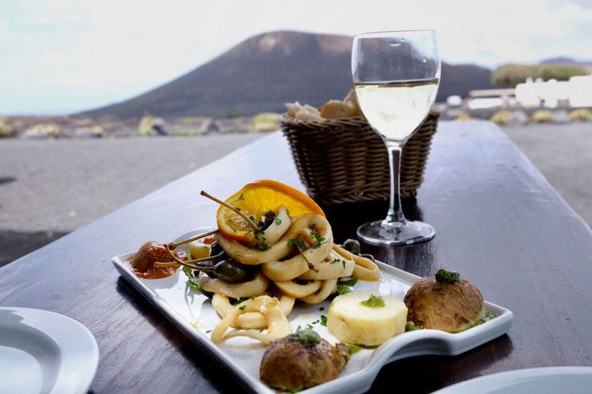 Best food Bodega Restaurant El Chupadero Weinanbaugebiet La Geria Lazarote