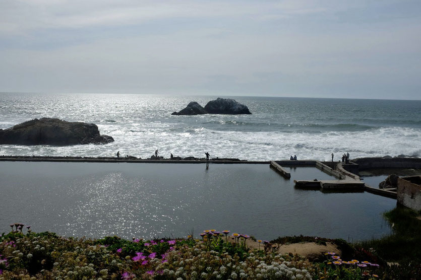 Sutro Baths Ruinen, Ocean Beach San Francisco