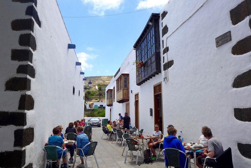 Lanzarote Norden schönster Samstag Markt im Dorf Haria Restaurant