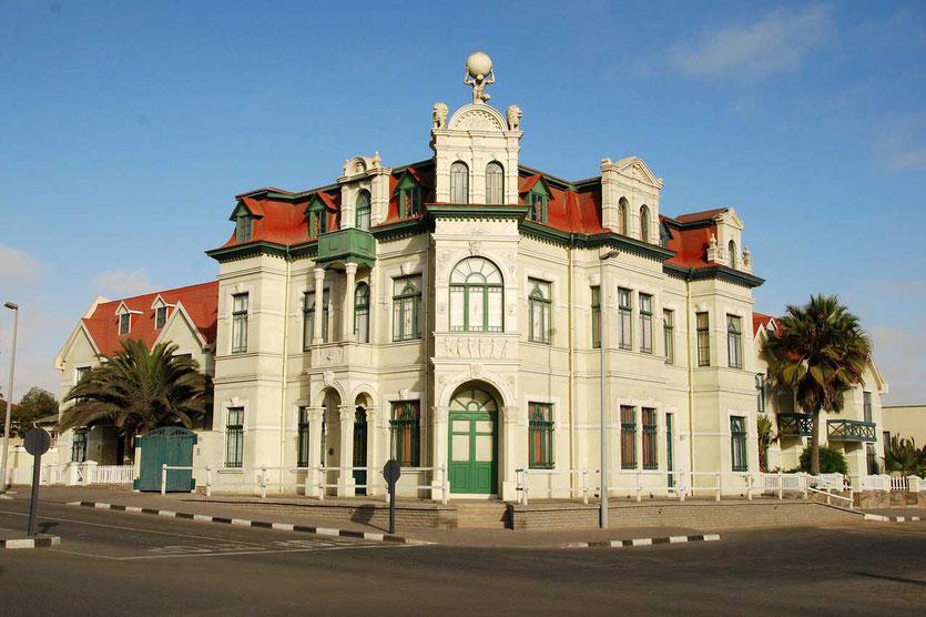Hohenzollernhaus nationales Denkmal und Wahrzeichen der Stadt Swakopmund Namibia