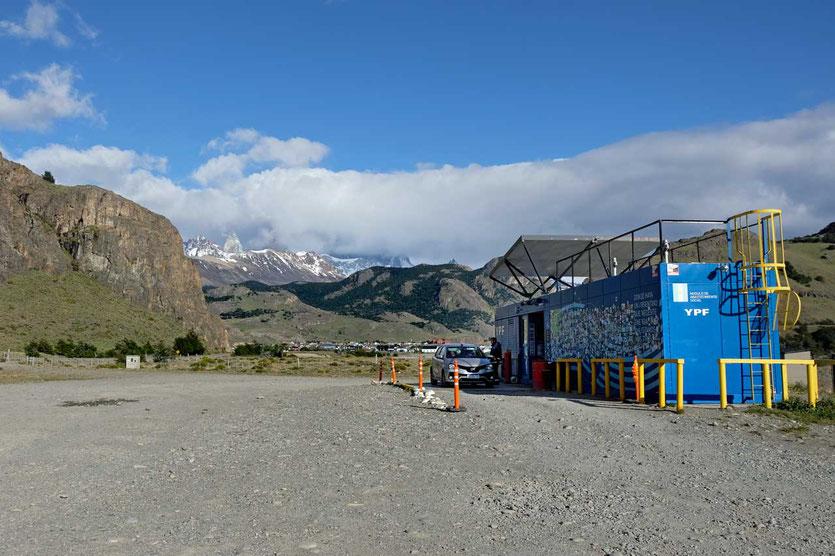 Einzige Tankstelle von El Chaltén