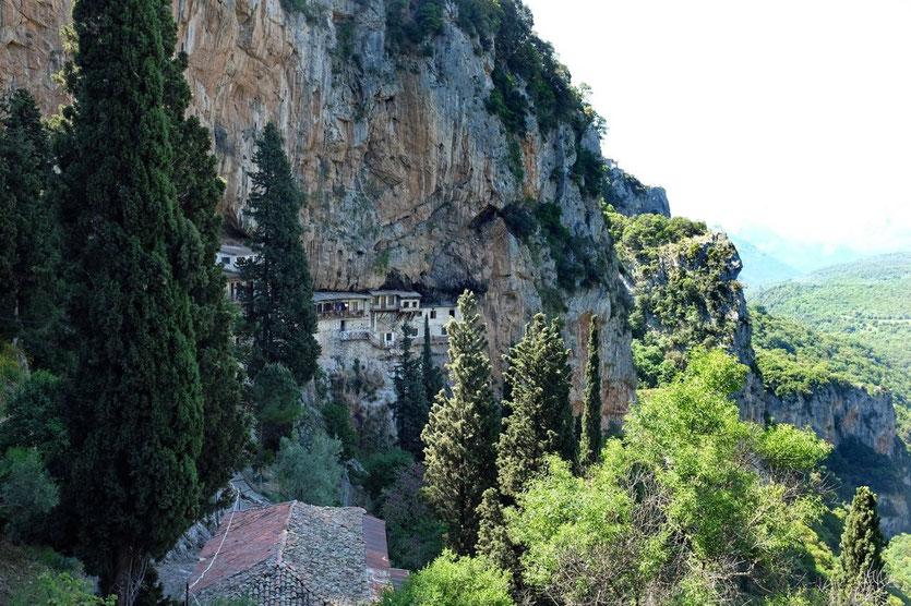 Kloster Prodromou Lousios-Schlucht Canyon Peloponnese