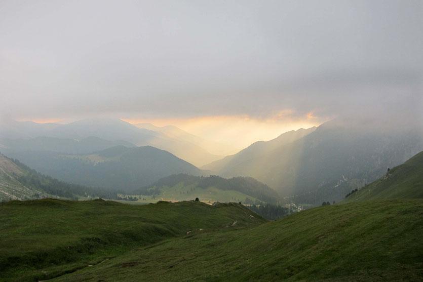 Sonnenuntergang an der Schlüterhütte