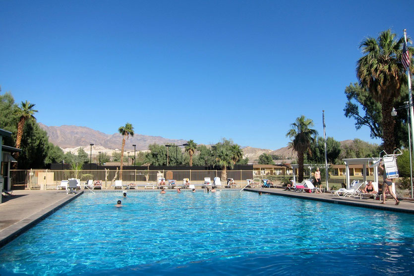 Quellwasser-Pool in der Wüste, Furnace Creek Ranch, Death Valley