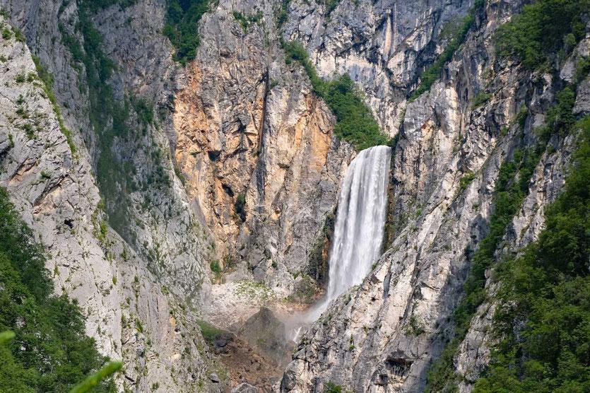 Boka Wasserfall Soca Tal Slowenien