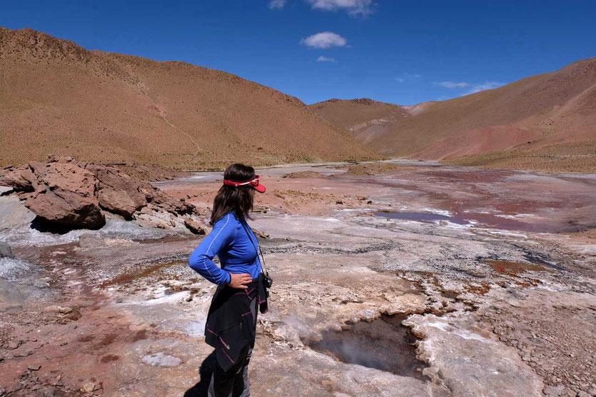 Wanderung am Rio Blanco Geysir Atacama