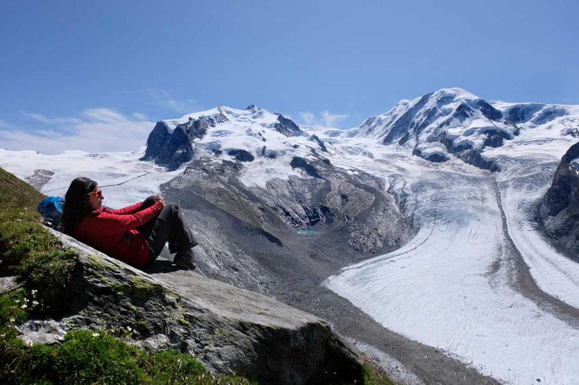 Monte Rosa, Grenzgletscher und Liskamm