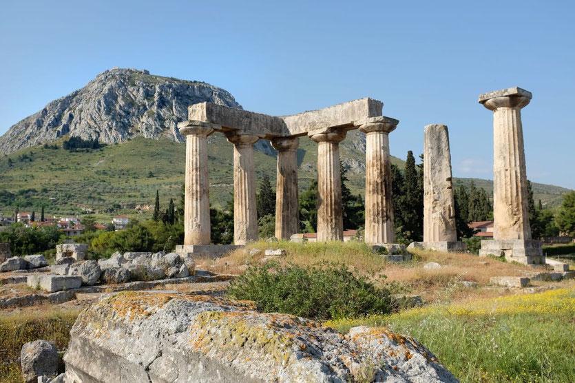 Apollon-Tempel, Antikes Korinth, Akrokorinth Peloponnes