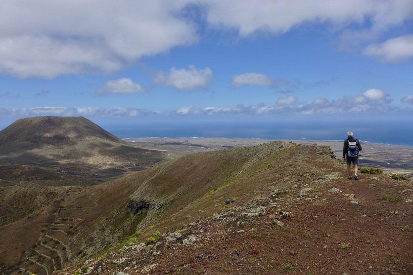 Los Helechos Vulkankrater Wanderung Lanzarote Norden