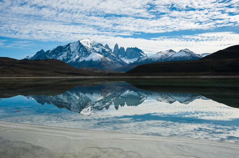Laguna Amarga Las Torres Blick Torres de Paine
