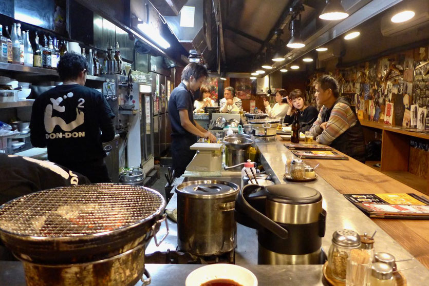Yakiniku BBQ grill restaurant Don Don America-mura Osaka
