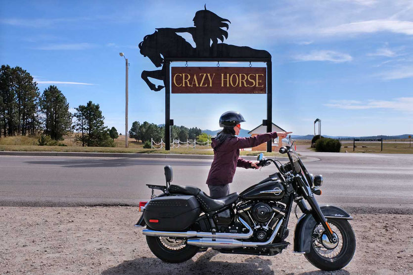 Harley Tour zum Crazy Horse Memorial Black Hills South Dakota