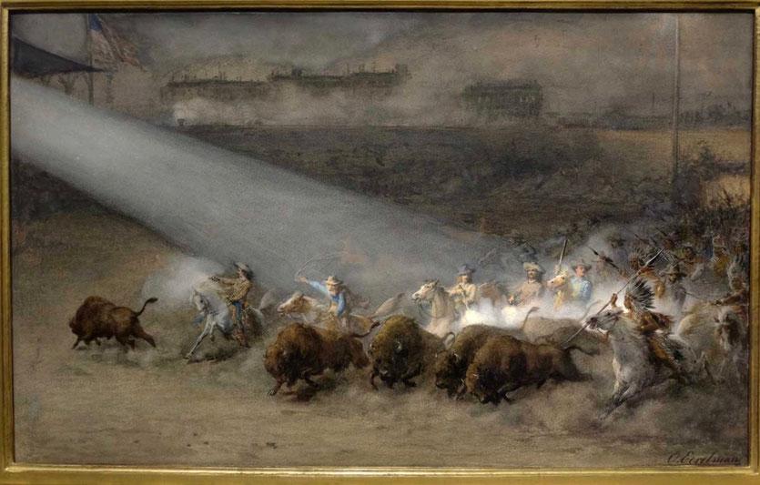 Buffalo Bill Wild West Show Gemälde Otto Eerleman 1887  Buffalo Bill Center of the West