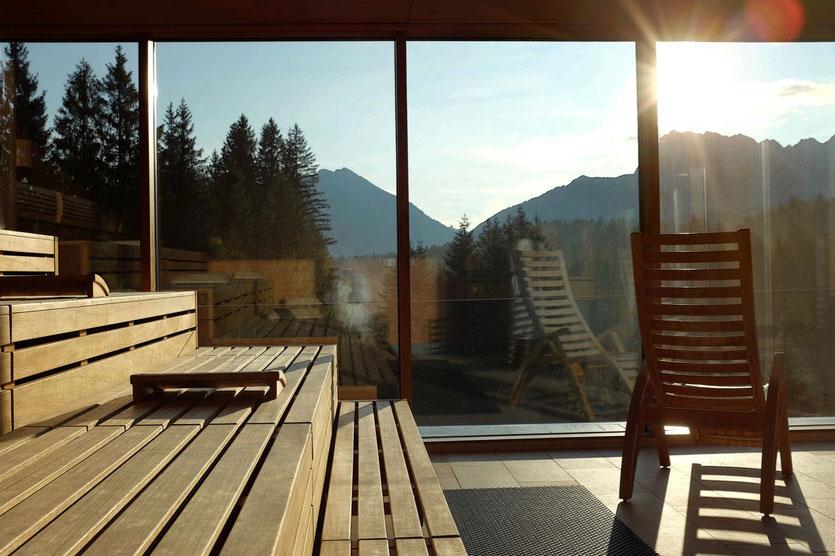 Wellness Sauna Kranzbach Design Hotel Bayern