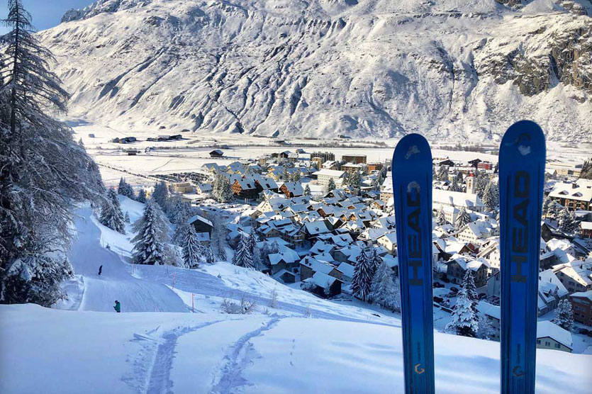 Wintersportort Andermatt Schweiz