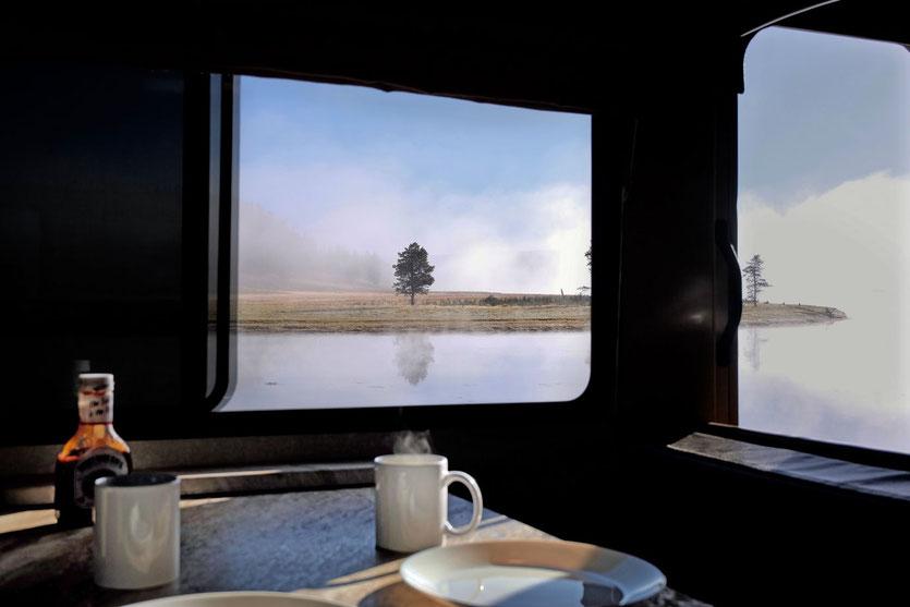 Mit Wohnmobil im Yellowstone Hayden Valley