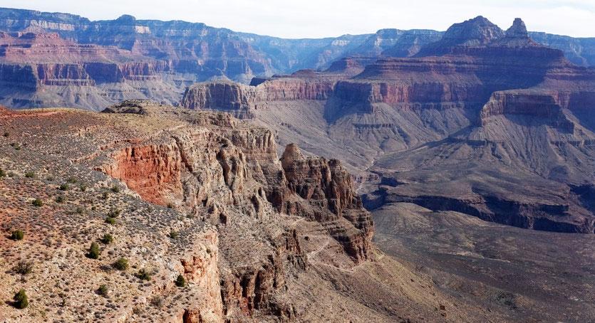 South Kaibab Trail Skeleton Plateau Viewpoint Grand Canyon