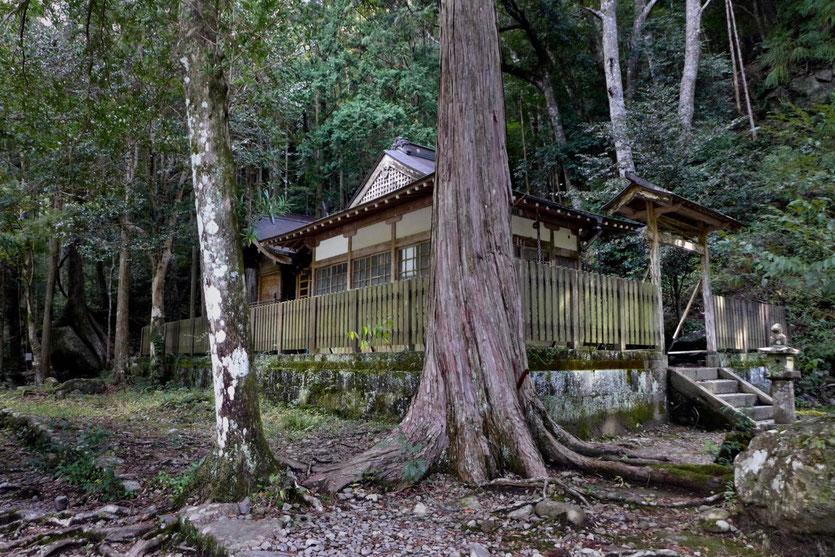 Kleiner Tempel am Kumano Kodo Pilgerweg bei Takijiri-oji