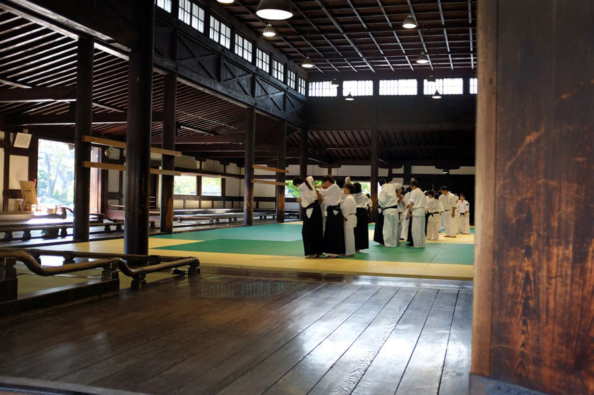 Budo Sportzentrum Kyoto watch training Kyudo and Kendo, Kyoto Reisebericht Reiseblog Tipps