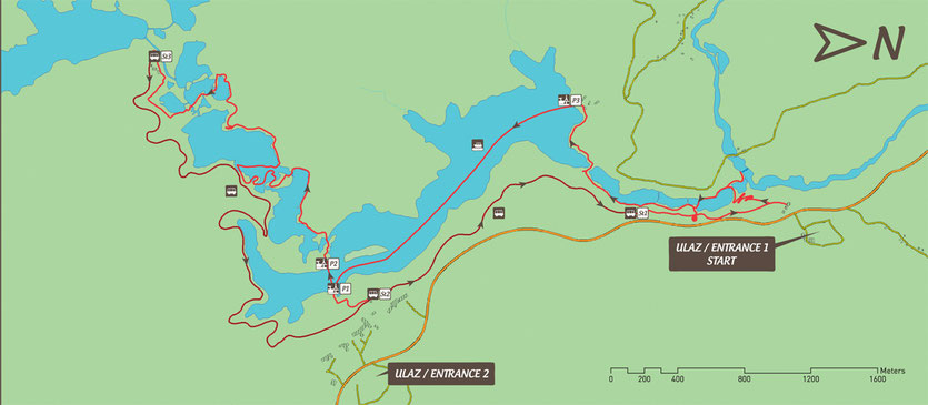 Schöner Rundgang an den Plitvicer Seen von 4 bis 5 Stunden