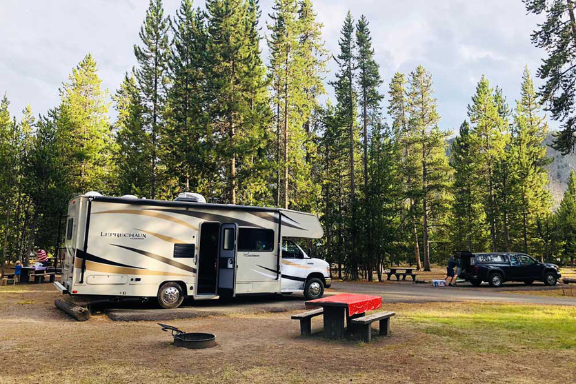 Madison Campground RV Campsite Yellowstone