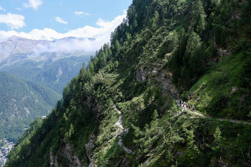 Wanderweg Zermatt – Trift