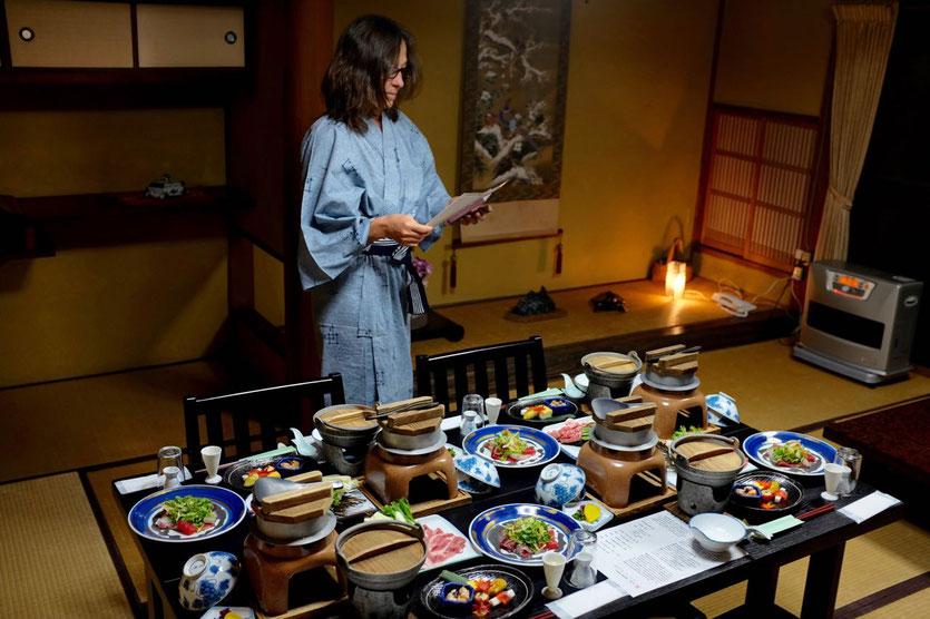 Onsen Ryokan bestes Kaiseki Essen Bergdorf Pilgerweg Kumano Kodo Japan