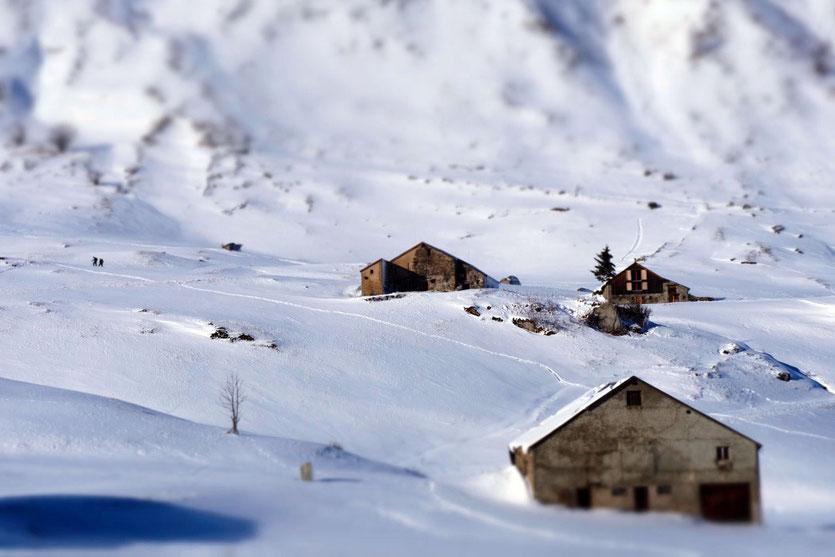 Winterwanderweg Schneeschuhen Urserntal Andermatt
