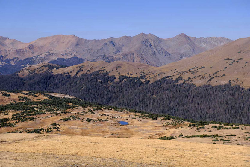 Forest Canyon und kontinentale Wasserscheide der USA Rocky Mountains NP