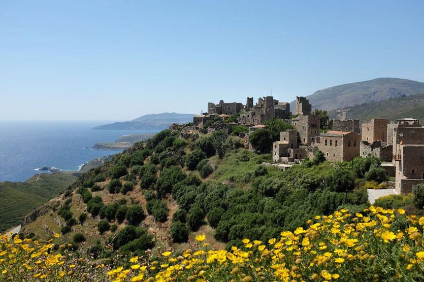 Towers Vathia Mani Peloponnese