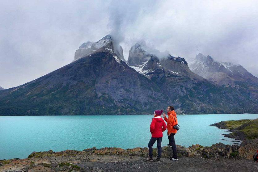 Lago Nordenskjöld vor den Cuernos Torres del Paine