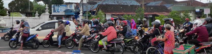 Traffic Streets Yogyakarta Java Indonesia
