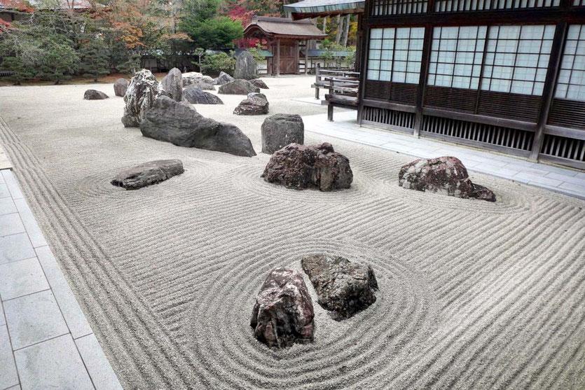 Rock garden Koyasan best sightseeing Japan schönste Steingärten Tempelgarten Kongōbuji