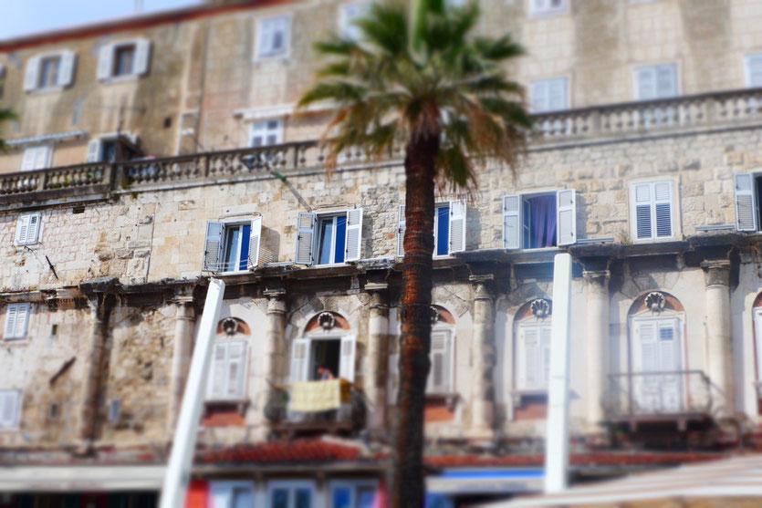 Wohnen in alten Palastmauern von Split