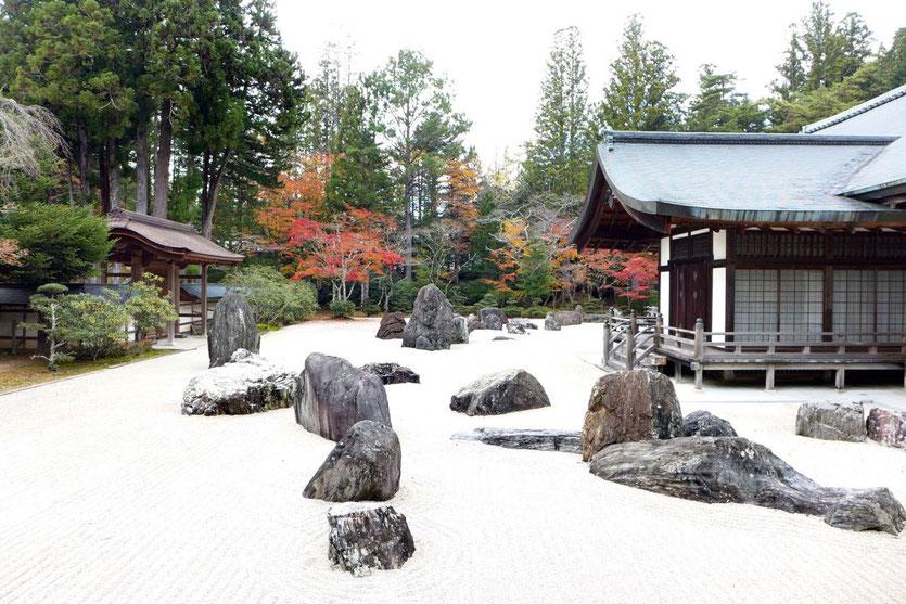 Koyasan Steingarten Banryutei rock garden Tempel Kongobuji Japan