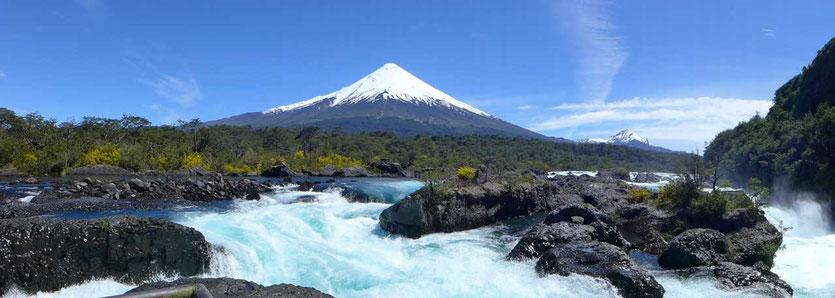Petrohué Wasserfälle Osorno Vulkan