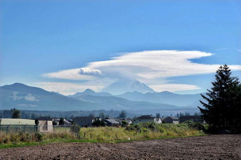 Mt. Ranier Vulkan im Norden bei Enumclaw