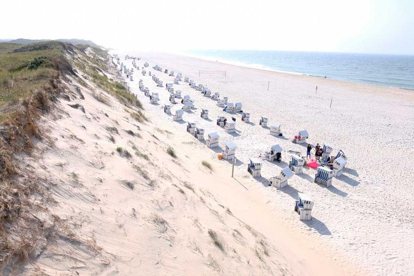 Sylt Strandkörbe bei Kampen